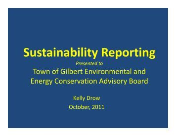 Sustainability Reporting - Town of Gilbert