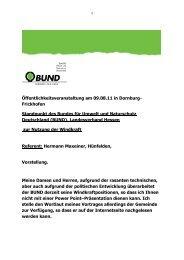 Standpunkt des Bundes für Umwelt und Naturschutz Deutschland ...