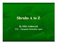 Shrubs A to Z