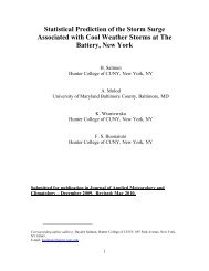 Statistical Prediction of the Storm Surge Associated with Cool ...