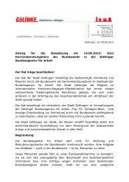 Antrag: Kein Karriereberatungsbüro der ... - Göttinger Linke