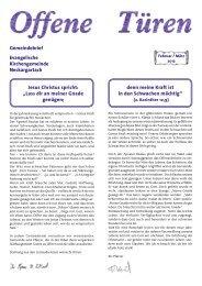 Februar / März - Evangelische Kirchengemeinde Neckargartach