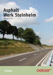 Asphalt Werk Steinheim - Geiger