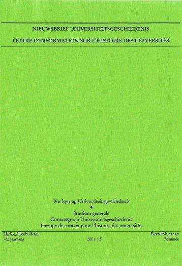 Jaargang / Année 7, 2001, nr. 2 - Gewina