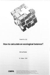 How to calculate an ecological balance? - Eawag-Empa Library
