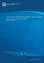 Surface water sampling methods and analysis — technical ...