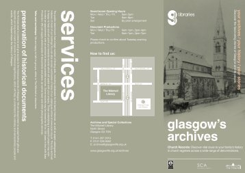 Church Archives Leaflet - Glasgow Life