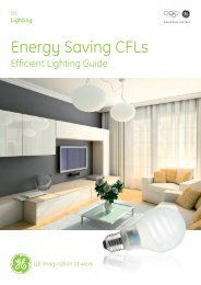Energy Saving CFLs - GE Lighting Asia Pacific