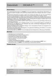 Datenblatt DICAR-C™ - GEA Diessel GmbH