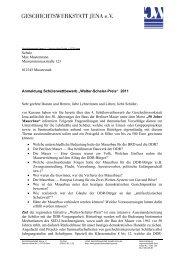 Hinweise und Informationen zum ... - Geschichtswerkstatt Jena eV