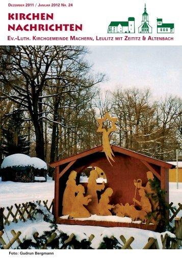 Kirchenblatt Dezember 2011 / Januar 2012 Nr. 24 - Gemeinde ...