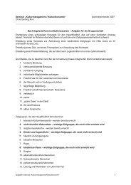 """Seminar """"Kulturmanagement / Kulturökonomik"""" Sommersemester ..."""