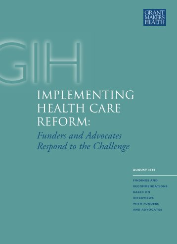 Implementing Health Care Reform: Funders and Advocates ...