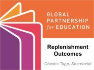 Replenishment Outcomes - Global Partnership for Education