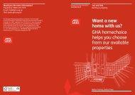 GHA homechoice - Glasgow Housing Association