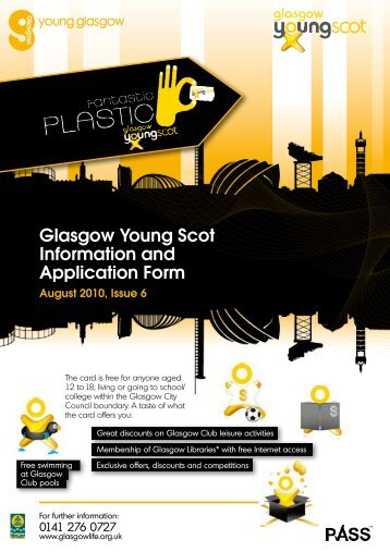 Apply for a Glasgow Young Scot Card - Glasgow Life