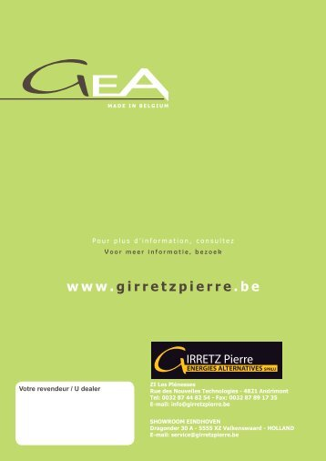 De brochure downloaden - Girretz Pierre