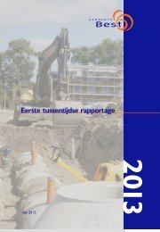 Eerste Tussentijdse rapportage 2013 - Gemeente Best