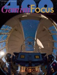 Issue 38, June 2009 - Gemini Observatory