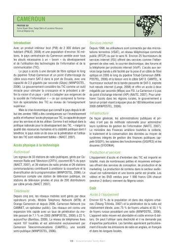 CAMEROUN - Global Information Society Watch