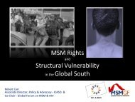 MSM Rights and Structural Vulnerability in the Global South - GMSH