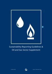 Oil and Gas Sector Supplement - Global Reporting Initiative