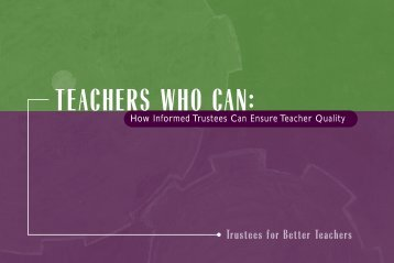 teachers who can - The American Council of Trustees and Alumni
