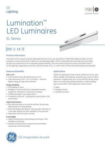 LED Lumination Indoor Luminaires EL Series - Data ... - GE Lighting