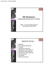 HIV disclosure: a legal guide for gay men in Ontario - GMSH