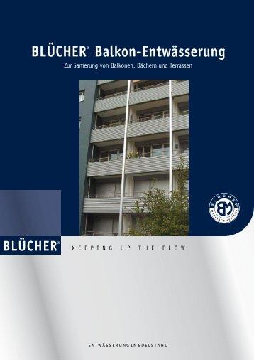 BLÜCHER® Balkon-Entwässerung