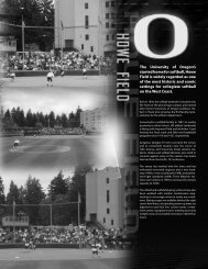 The University of Oregon's storied home for softball ... - GoDucks.com
