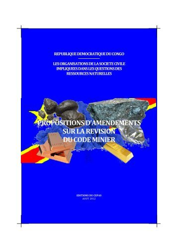 DRC-mining code civil society proposals Aug 2012 ... - Global Witness