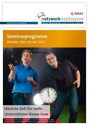 Wettbewerb Nordbayern 2013 - Netzwerk Nordbayern
