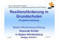Resilienzförderung in der Grundschule