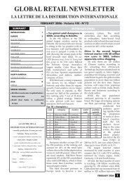 FEBRUARY 2006 N°72 - Global Retail Newsletter
