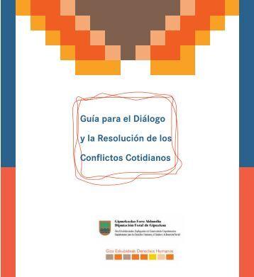 Guía para el Diálogo y la Resolución de los ... - Gipuzkoa.net