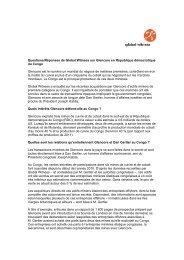 Lire les Questions et Réponses de Global Witness sur le scandale des