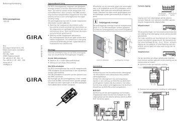 elektronische jaloezie en rolluikbesturing 5 drukcontacten gira. Black Bedroom Furniture Sets. Home Design Ideas
