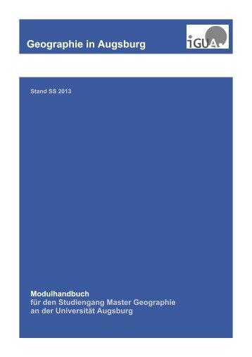 Master Geographie - Universität Augsburg