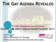 The Gay Agenda Revealed - GMSH