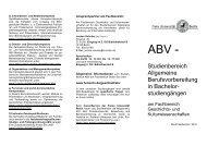 Info-Flyer - Fachbereich Geschichts