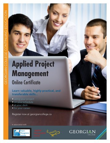 Applied Project Management information sheet - Georgian College