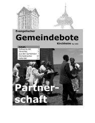 Mai 2006 - Gemeindebote