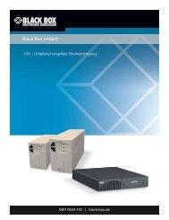USV - Black Box Deutschland Gmbh
