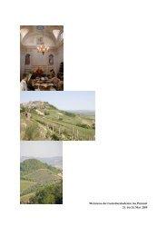 Weinreise der Genießerakademie ins Piemont 21. bis 24. Mai 2009