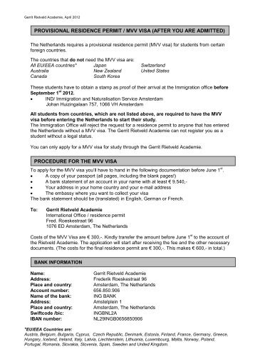 General Information for Foreign Students who will enroll for the first ...