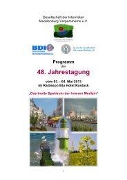 Allgemeine Hinweise - Gesellschaft der Internisten Mecklenburg ...