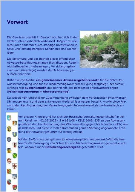Trennung der Abwassergebühr - Gemeinde Dornburg