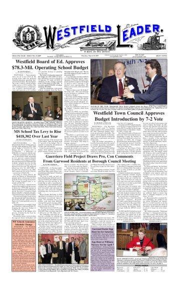 07mar29 newspaper - The Westfield Leader