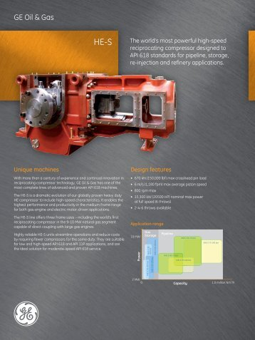 HE-S Reciprocating Compressor / PDF 297kb - GE Energy